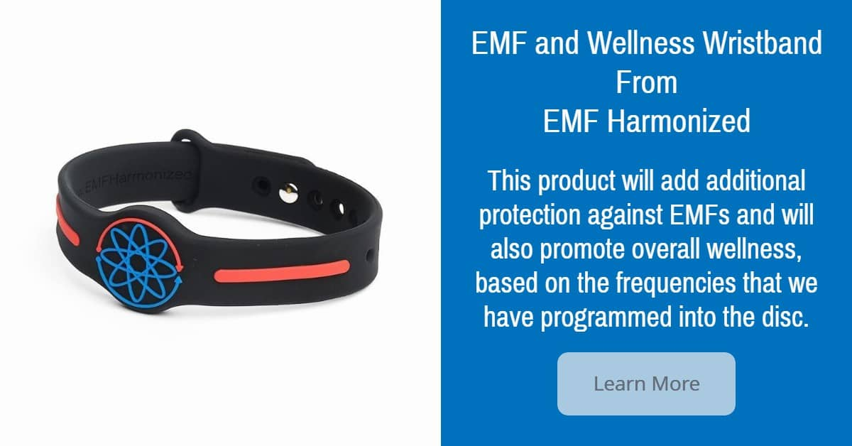 Check out our EMF and Wellness Wristband for added protection